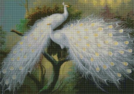 Kustom Krafts 9507 White Peacocks
