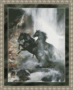 Kustom Krafts 9715 Waterfall horses