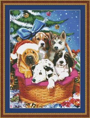 Kustom Krafts 9727 Christmas Puppies