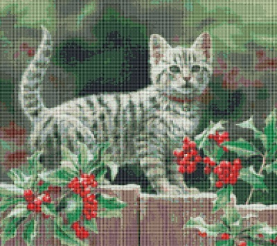 Kustom Krafts 9729 Pretty Kitten in Holly