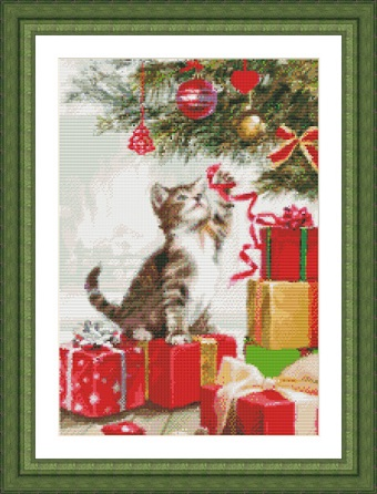 Kustom Krafts 9759 Kitten with Ribbon