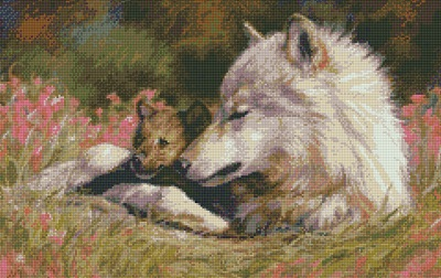 Kustom Krafts 9884 Late Spring Wolf and Pup