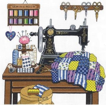 Janlynn 17-0100 Antique Sewing Room