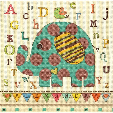 Dimensions  73988 Baby Elephant ABC