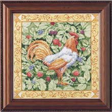 Bucilla 45627 Berry patch rooster
