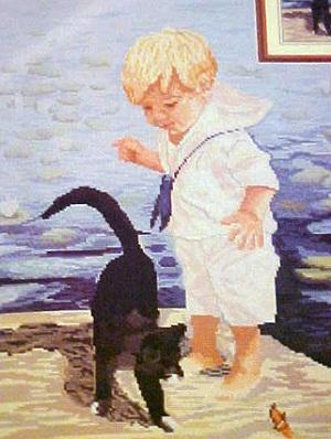 Janlynn 29-21 Boy with cat