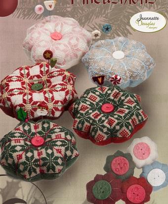 Jeannette Douglas Designs Christmas quaker pincushions