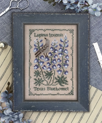 The Drawn Thread Texas Bluebonnet - Botanical Stitches