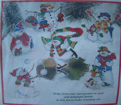 Dimensions 8648 Silly snowmen ornaments