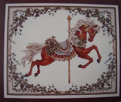 Teresa Wentzler Carousel horse-Fall