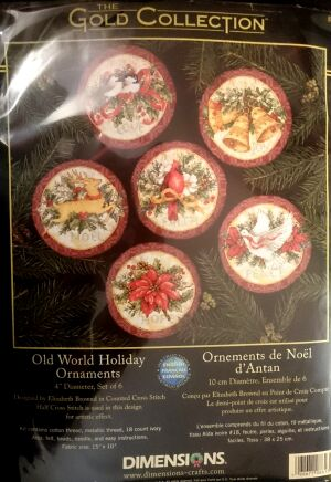 Dimensions 8813 Old World Holidays Ornaments