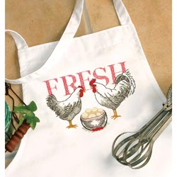 Dimensions 73885 Rooster apron