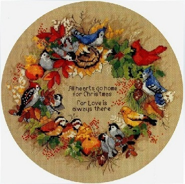 Dimensions 8413 Forest Bird Wreath