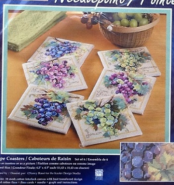 Janlynn 023-0390 Grape coasters