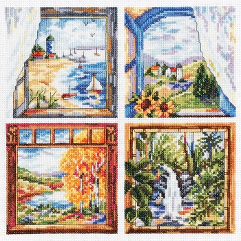 Janlynn 23-0606 Four window scenes