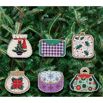 Janlynn 21-1472 Christmas handbags ornaments