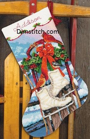 Dimensions 09152 Ice skates stocking