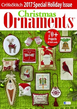 Just Cross Stitch Magazine Christmas Ornaments 2017