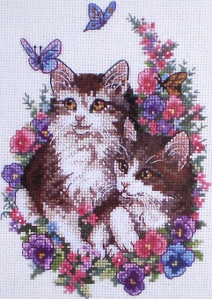 Dimensions 6885 Kittens and Butterflies