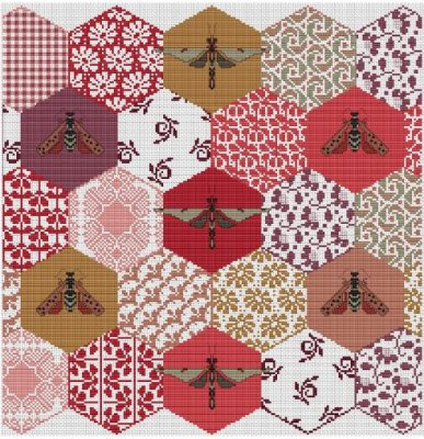 Long Dog Samplers The Quilted Bees,LD79