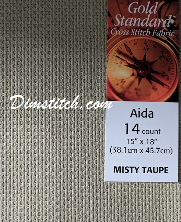 Charles Craft Misty Taupe Aida 14