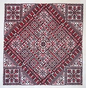 NE Shades of Red Stitch Count 249 x 249