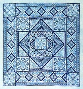 NE Shades of Blue Stitch Count 249 x 249