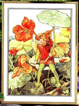 A nasturtium fairy