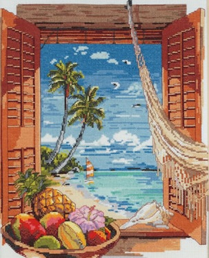 Janlynn 023-03821 Tropical Vacation Window