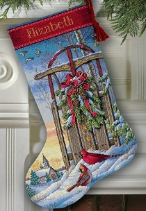 Dimensions 08819 Christmas Sled Stocking