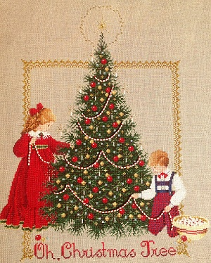 Oh Christmas Tree stitched