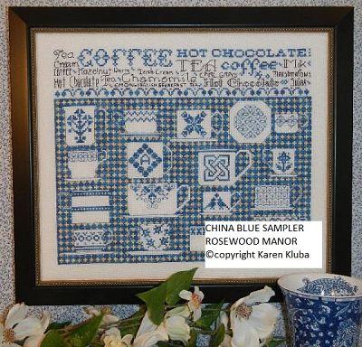 Rosewood Manor China Blue sampler