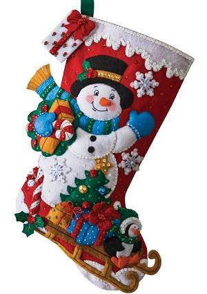 Bucilla 86410 Snowman with present