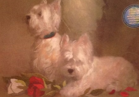 Dimensions 16056 Terriers and roses