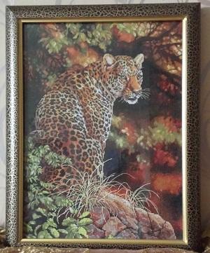Leopard's Gaze stitched