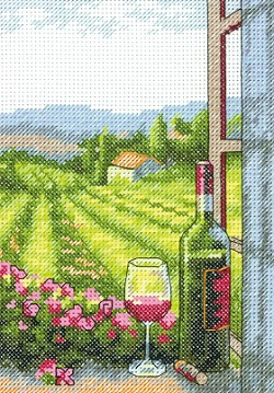 Dimensions 65137 Wine with a view