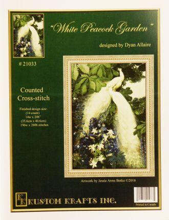 Kustom Krafts 21033 White Peacock Garden