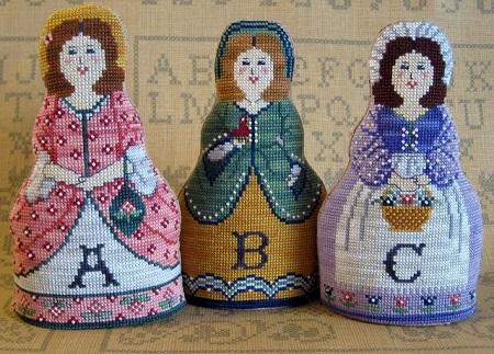 The Needle's Notions Alphabet Dolls