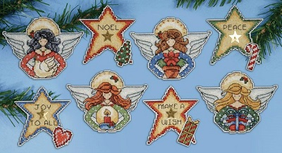 Design Works 1680 Angels ornaments