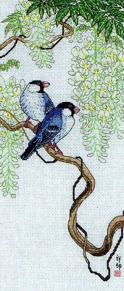 ANCHOR 01160 Birds On Wisteria