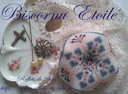 Reflets de Soie Biscornu Etoile