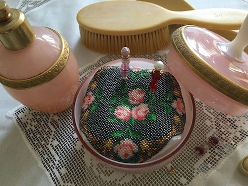 Reflets de Soie Biscornu de Victoria