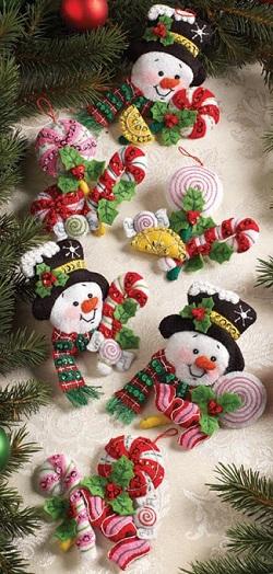 Bucilla 86308 Candy Snowman Ornaments