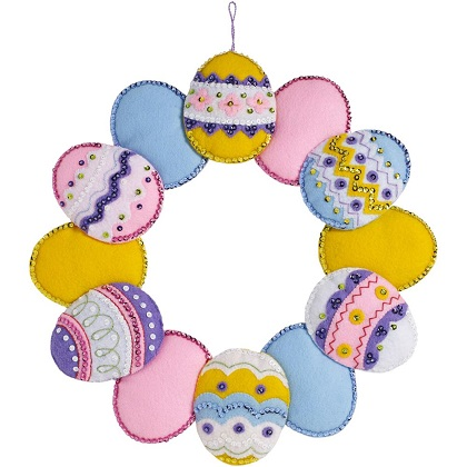 Bucilla 86759 Easter Eggs wreath