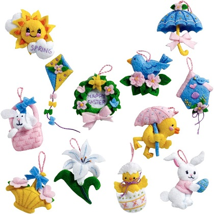 Bucilla 86757 Easter ornaments