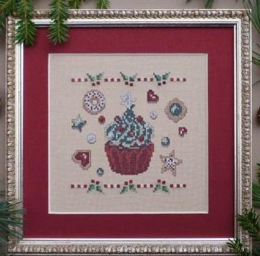 Filigram Christmas cupcake