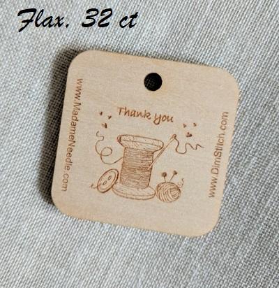 3609520 Flax linen 32 ct