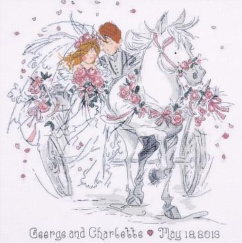Design Works DW 2715 Wedding Carriage