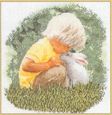Thea Gouverneur GOK1046 Little Boy with Bunny