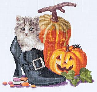 Thea Gouverneur GOK738A Halloween kitten